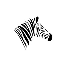Zebra's Head. Schematic Black ...
