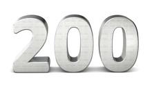 200 Zahl Silber 3d Number Silver Struktur