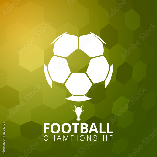 Spoed Foto op Canvas Bol Football soccer ball vector illustration abstract background