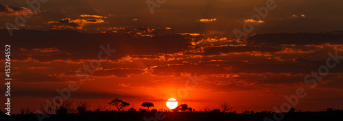 Recess Fitting Africa Sunset - Chobe N.P. Botswana, Africa