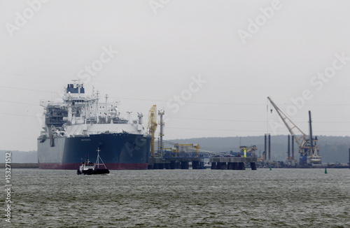 Floating storage regasification unit (FSRU)  Independence  is docked at the liquefied natural & Floating storage regasification unit (FSRU)