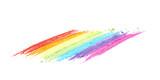 Fototapeta Tęcza - Rainbow gradient traces of pastel chalk