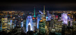 New York Night Panorama of Manhattan, USA