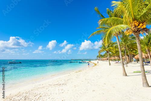 Fotobehang Strand Akumal beach - paradise bay Beach in Quintana Roo, Mexico - caribbean coast