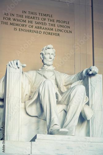 Foto  Statue of Abraham Lincoln, Lincoln Memorial, Washington DC