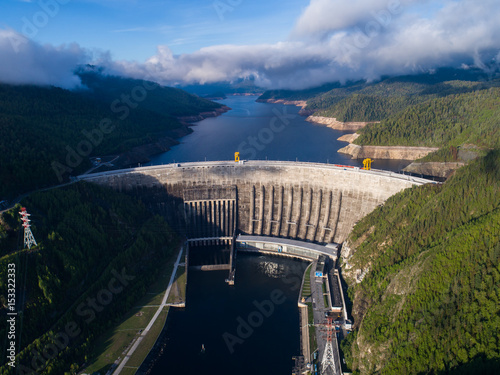 Fototapeta Sayano Shushenskaya hydroelectric power station. obraz