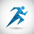 biegacz origami wektor