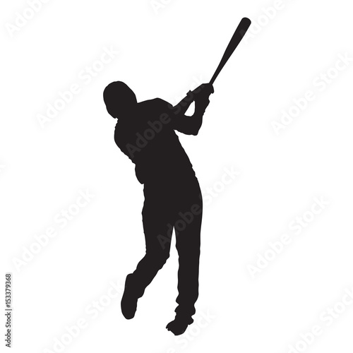 Photo  Baseball player, front view, batter vector silhouette