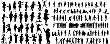 Collection Of Children Silhoue...