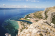 View from the fortress Stari Grad of the city of Omis in Croatia.