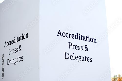 Photo Accreditation Press & Delegates