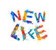 New life. Splash paint sogan