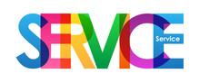 SERVICE Colourful Vector Lette...