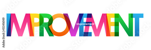 Fotografía  IMPROVEMENT Vector Letters Icon