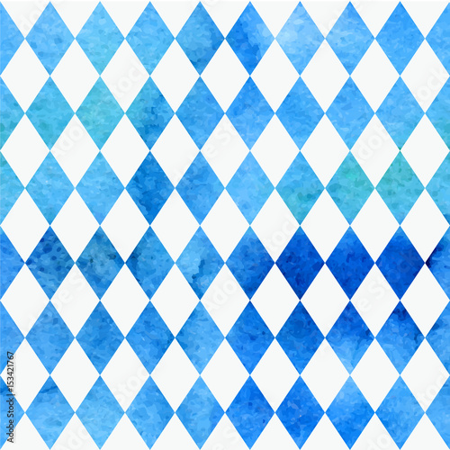 Photo Oktoberfest bavarian watercolor aquarelle traditional blue white beautiful background pattern