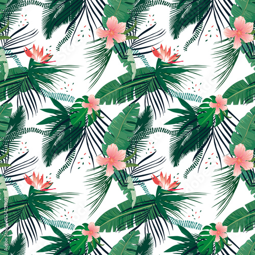 seamless-tropical-pattern-palm-leaves-summer-jungle-floral-background
