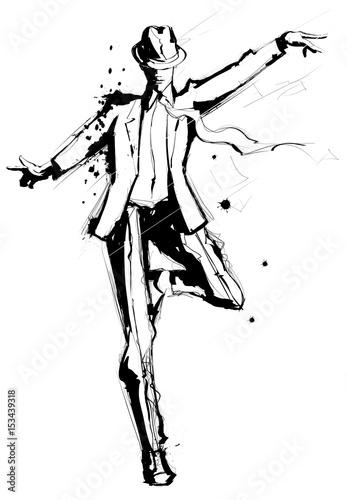 Fotobehang Art Studio Man dancing