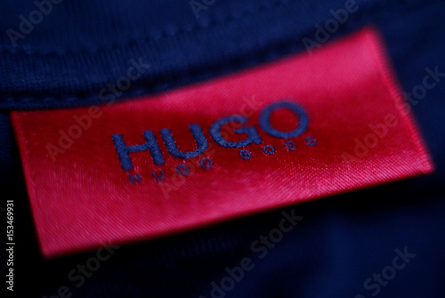 b06577bb5d6b The logo of German fashion house Hugo Boss is seen on a clothing label at  their