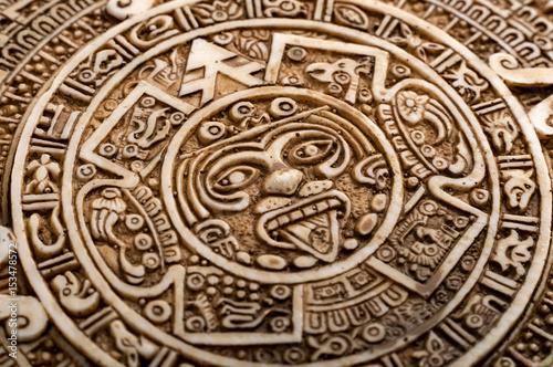 Aztec Calendar Stone.Archeological Aztec Sun Calendar The Aztec Calendar Stone Was Made