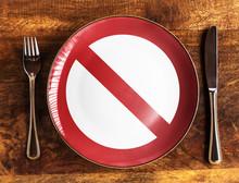 No Food Concept With Forbidden...