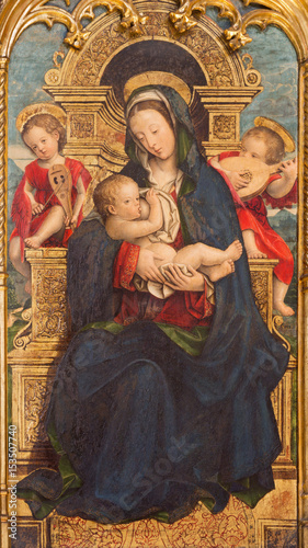 Photo  TURIN, ITALY - MARCH 13, 2017: The painting of The Nursing Madonna in Duomo by Defendente Ferrari (1511 - 1535)