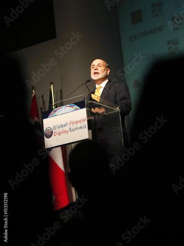 Federal Reserve Chairman Bernanke speaks during the HOPE