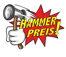 """Hammer Preis"" Comicstyle Sale..."