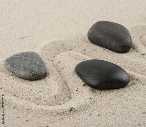 Photo sur Plexiglas Zen pierres a sable Stones in the sand