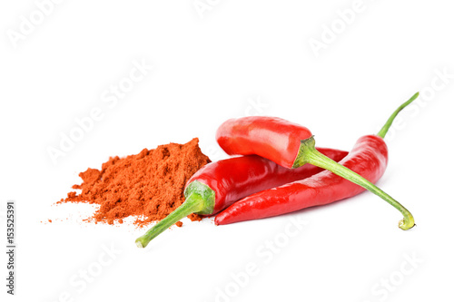 red hot chili peppers and chili powder
