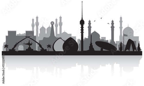 Baghdad Iraq city skyline silhouette Tablou Canvas