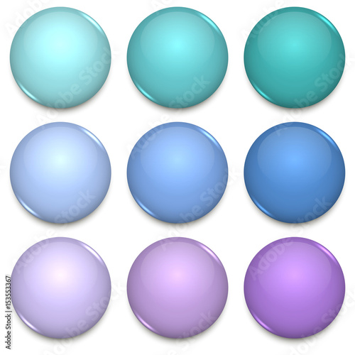 cool tone color glossy blank badges template buy this stock