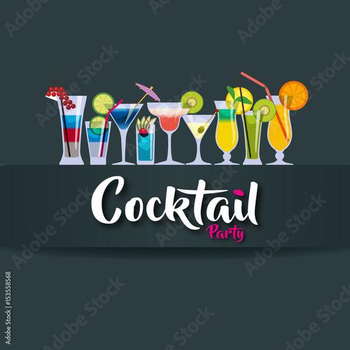 Fotografie, Obraz  cocktail - party - verre - apéro - apéritif - boisson - alcool - bar
