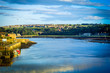 canvas print picture - Panorama of Berwick Upon Tweed in England, UK
