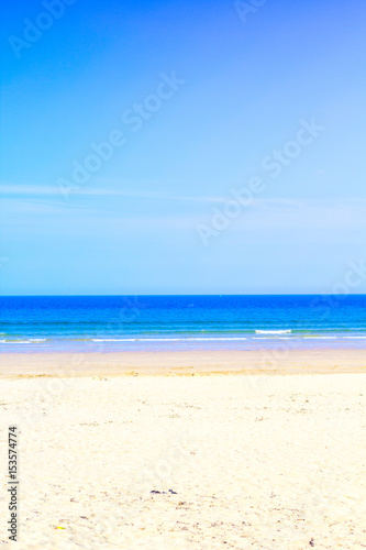 Poster Tropical plage Ocean and the blue sky