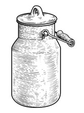 Milk Can Illustration, Drawing...