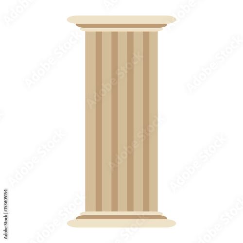 Fototapeta roman column antique architecture construction decoration vector illustration obraz na płótnie