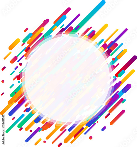 Colorful transparent round background on white. Fototapete