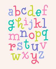 Fototapeta Do pokoju dziecka Colorful alphabet vector design
