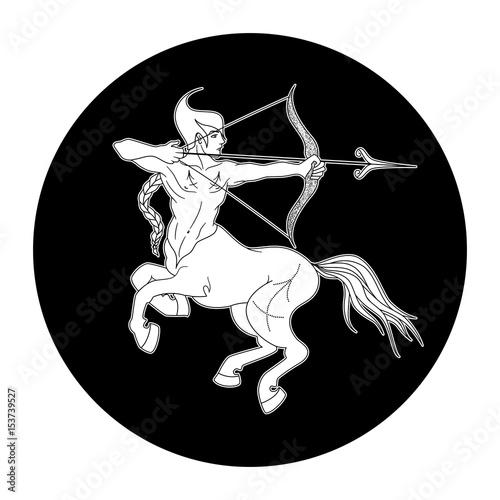 Sagittarius Zodiac Sign Horoscope Symbol Vector Illustration Buy