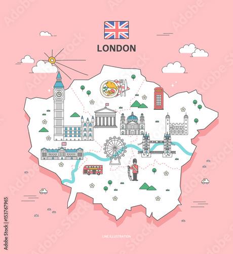 Obrazy Londyn   london-travel-landmark-collection