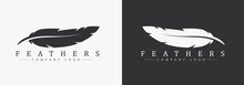 Logo Design With Feather And C...