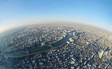 Tokyo skyline from the tower. Sumida. Tokyo. Japan.