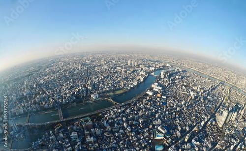 Fotografie, Obraz  Tokyo skyline from the tower. Sumida. Tokyo. Japan.