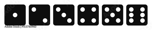 Photo Black dice - stock vector