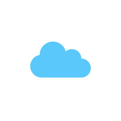 cloud icon vector, solid logo illustration, colorful pictogram isolated on white