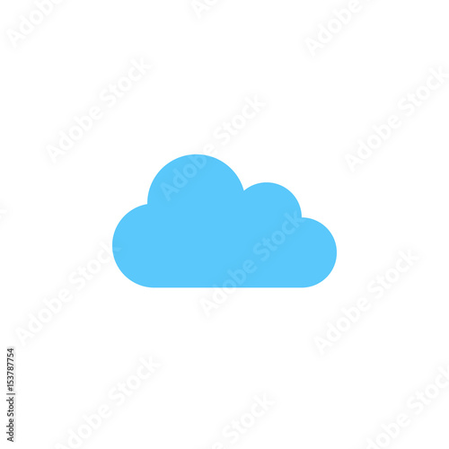 Obraz cloud icon vector, solid logo illustration, colorful pictogram isolated on white - fototapety do salonu