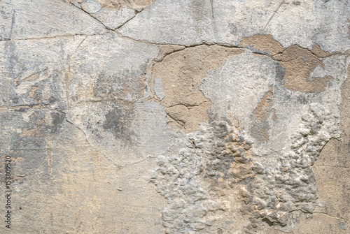 Foto auf AluDibond Alte schmutzig texturierte wand chipped paint on old concrete wall, cracks, texture background