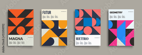 Fototapeta  Retro graphic design covers