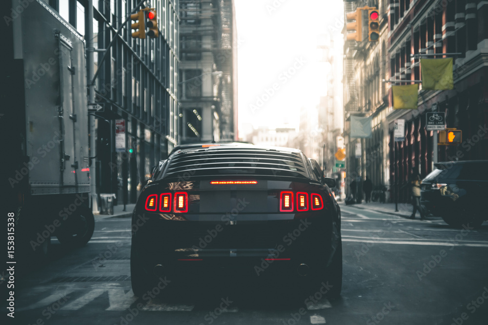 Fototapety, obrazy: Muscle Car in the Streets