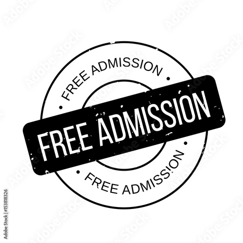 Free Admission rubber stamp Wallpaper Mural